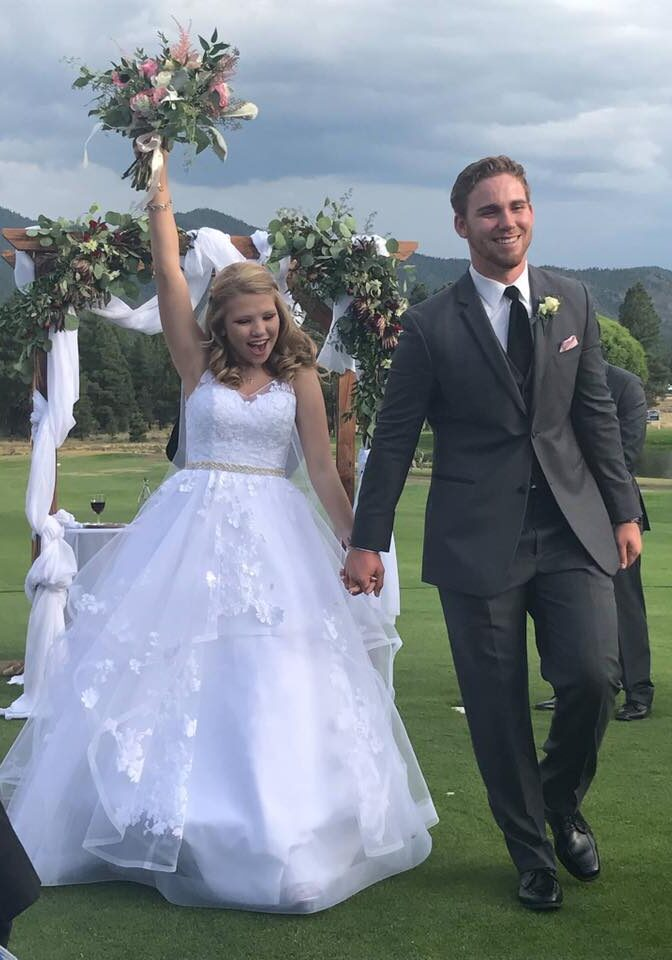 """""""Nailed the dress! Hope's wedding was a fairytale day. Thank you!"""" - Shari"""
